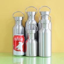 Libre de bpa a prueba de fugas botella de agua de acero inoxidable completa frasco frasco deportes de yoga ciclismo de excursión que acampa del recorrido al aire libre