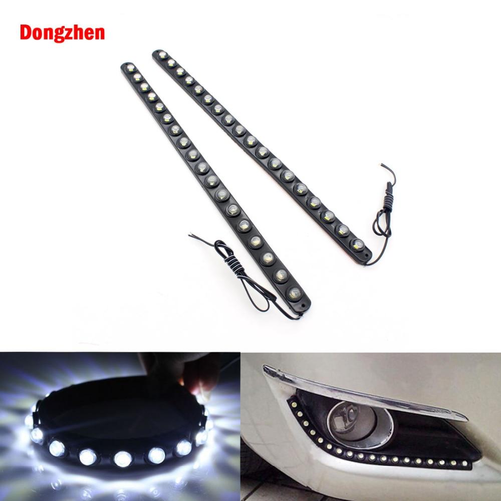 Dongzhen 2pcs Waterproof LED Strip 18 LED 36CM Daytime Running Lights LED DRL Flexible Fog Light Bulb Auto Door Brake Light