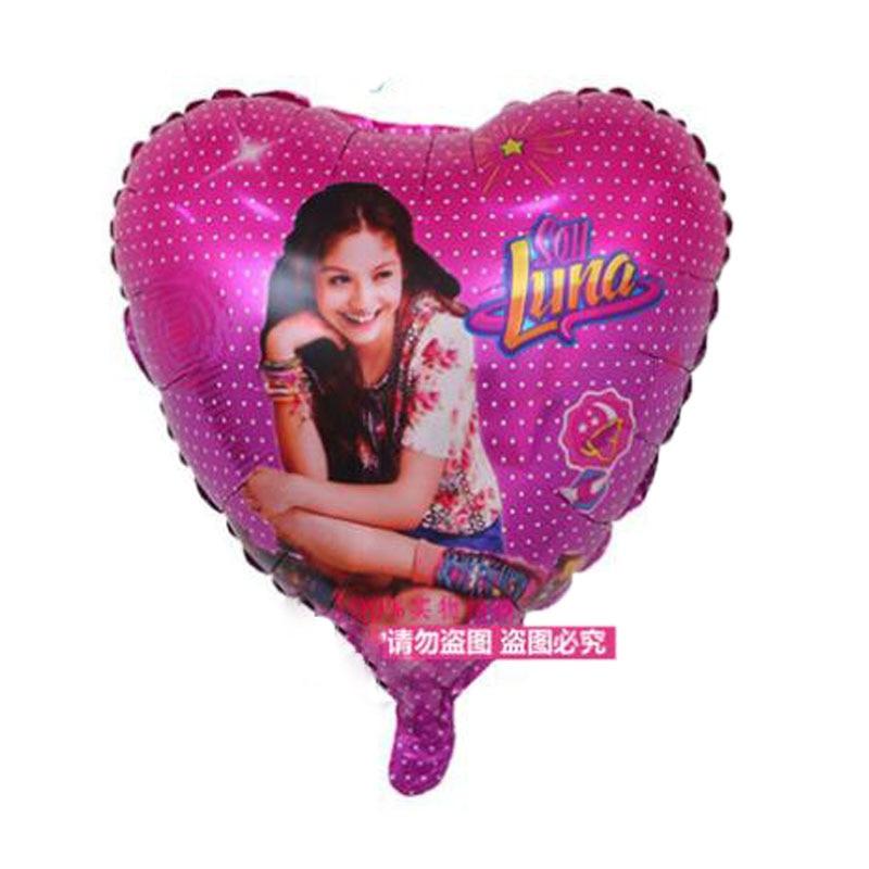 50PCS 18Inch Heart Round Soy Luna Foil Balloons Wedding Ballon Baby Birthday Party Decor Kid Girl Globos Cumpleanos Infantiles