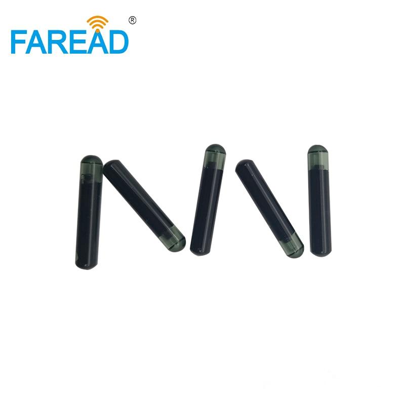 EM4305 Chip RFID Tag 4x22mm LF Glass Tag 134.2Khz Microchip For Identification