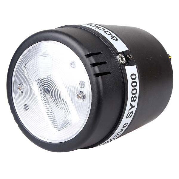 Godox SY8000 Photo Studio Strobe Light E27 Screw AC Slave Flash Strobe Bulb 220V 110V gm130 digital lcd display ultrasonic thickness gauge metal testering measuring instruments 1 0 to 300mm sound velocity meter