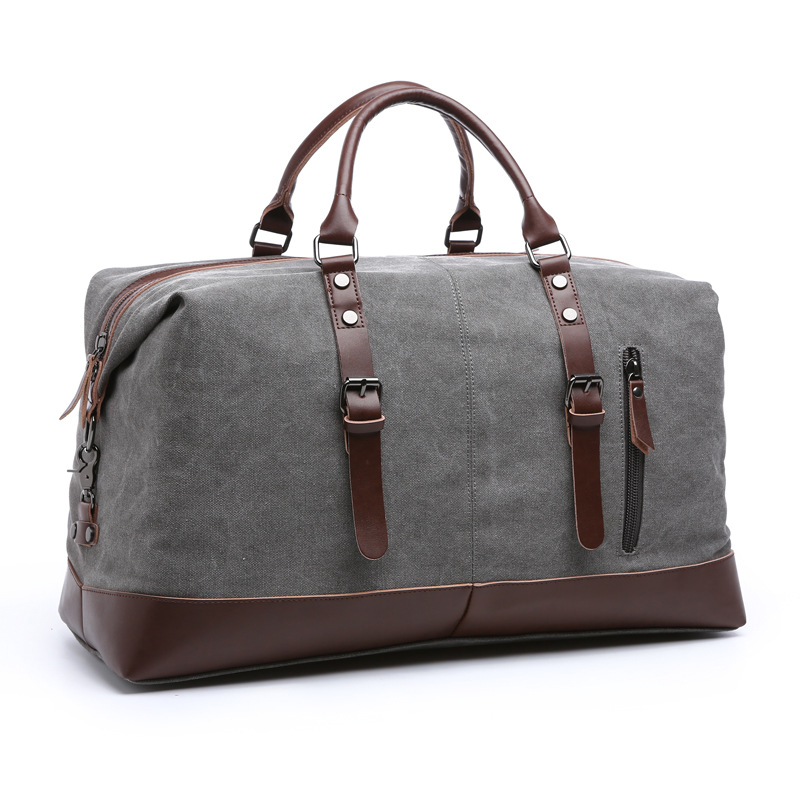 New Classic Canvas Leather Men Travel Bags Vintage Shoulder Bags Large Capacity Travel Duffle Bags High Quality Tote Weekend Bag