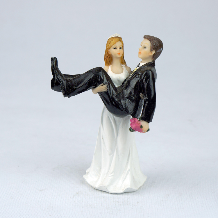 """To Have And To Hold"" Bride Holding Groom Figurine Wedding"