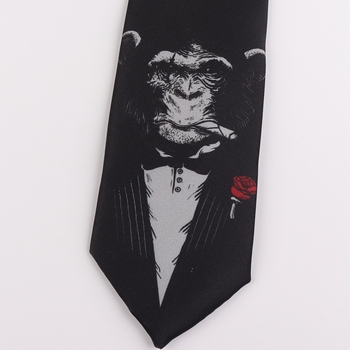 Tie 7CM printing tie student literary trend casual retro personalized gift