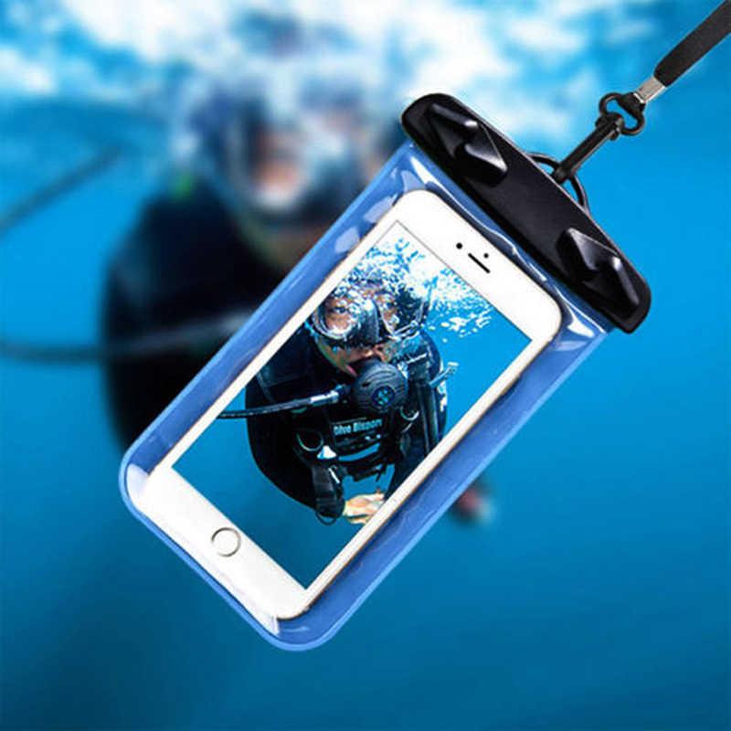 Su geçirmez telefon kılıfı Kılıfı Kuru Çanta Koruyun Su Yüzme Lanyard ile Su Geçirmez Kılıf Evrensel Kapak