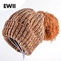 2015 Европейского шапка женская зимняя Harajuku Крупногабаритные помпоны шапочка заклинаний цвета вязать шляпа женская