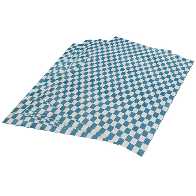 online shop red checkered food grade wax coated paper black check