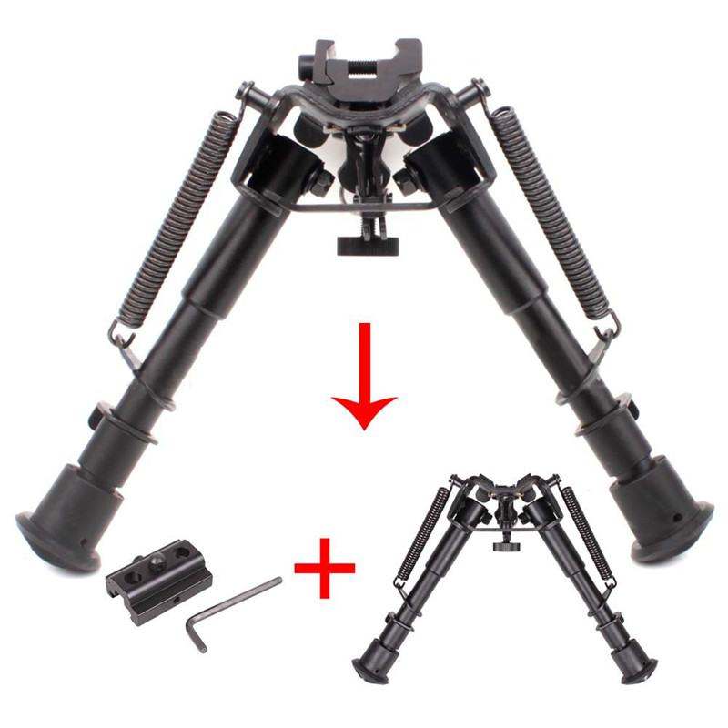 Butterfly Bi-pod + Adapter Tactical Bi-pod 6-9 Inche Adjustable Spring Return with Adapter Outdoor Accessory Camera Support feu led tmax 530
