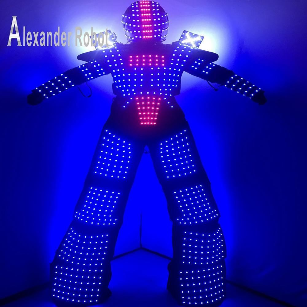 Costume de Costume de robot de LED/vêtements de LED/costumes légers/costumes de Robot de LED/robot d'alexander