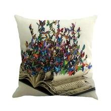 """""""Gajjar"""" pagalvė 45 * 45 Drugelių dažymas Lininiai mezginiai Liemenėlės pagalvėlės geometrinė Dropshipping pripučiama kaklo pagalvė kelionėms"""