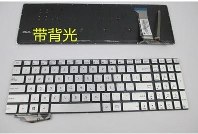 Backlight silver US new laptop keyboard for ASUS VivBooK Pro N552 N552V N552VX N552VW