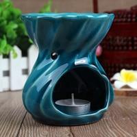 Ceramic Hollow Scent Essential Oil Burner Grass Essence Burner Oil Lamp Smokes Incense Burner Essential Oil Candle Furnace