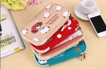 Swimming Bags Cute Canvas Pencil Case Pouch Stationery School Bag Kids Girls Passport Bicycle Bags Panniers(China (Mainland))