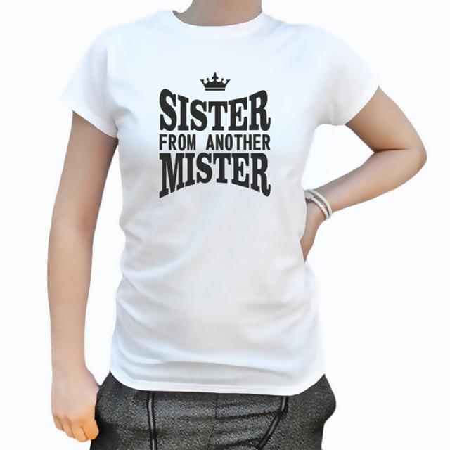 EnjoytheSpirit Bff Gift Sister From Another Mister Tshirt Best Birthday Crewneck Short Sleeve Good
