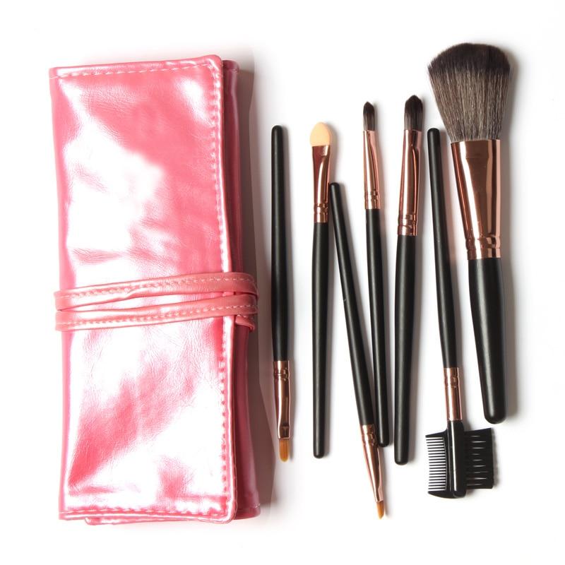 Professional Makeup Brush 7/Pcs Set Cosmetics Eyeliner Eyeshadow Blush Brush Make Up Tools With Bag