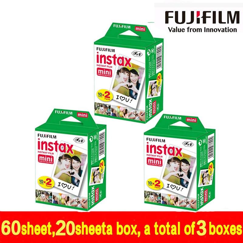 Original 60PCS Fujifilm Fuji Instax Mini White Film 60 Sheet Instant Photo Paper For Instax Mini 8 7s 25 50s SP-1 Camera