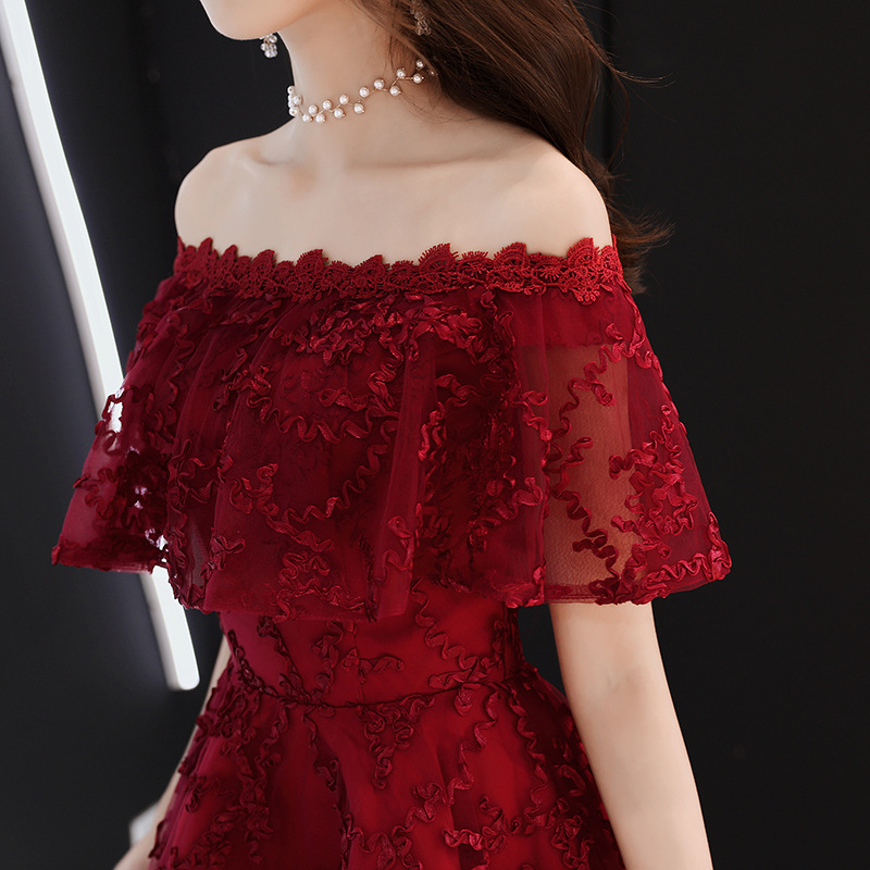 Oversize 3XL Off Shoulder Sexy Chinese Prom Gowns Female Cheongsam Dress Vestidos Chinos Oriental Wedding Gowns Party Dresses
