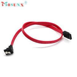 SATA Кабельное Высокое качество Быстрая 45 см правый угол кабель SATA Serial ATA данные приводят Блокировка с фиксацией S-RA 0,5 м Кабо 17July4