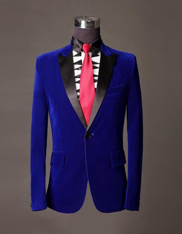 Popular Velvet Blue Prom Suit Jackets-Buy Cheap Velvet Blue Prom