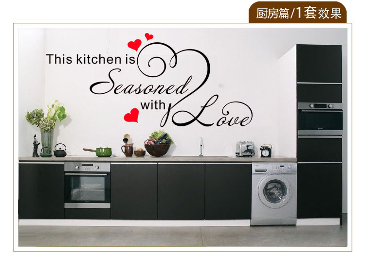 Kitchen wall stencils promotion shop for promotional for Stencil cucina