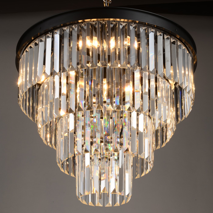Modern Chandeliers,Crystal Pendant Lamp K9 Crystal Chandelier For Living Room dining room E14 Crystal lighting fixture Black