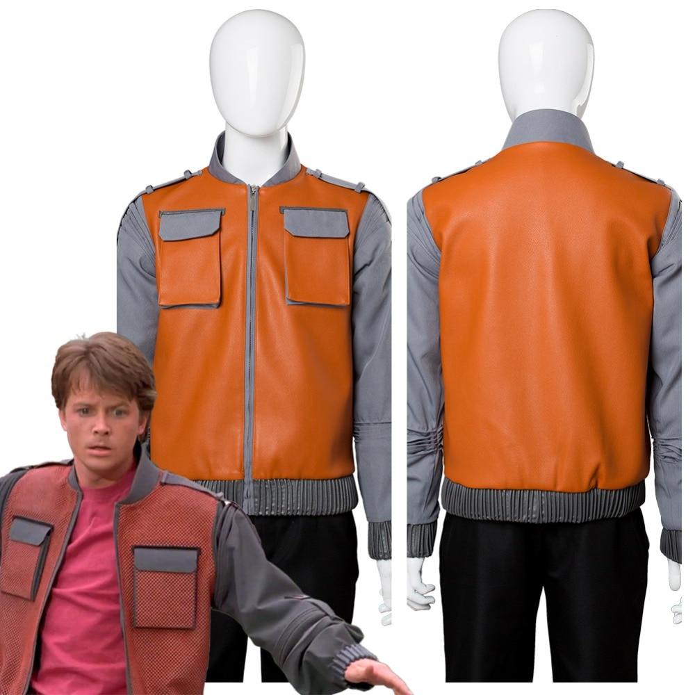 Retour au futur Marty McFly Costume Cosplay veste manteau