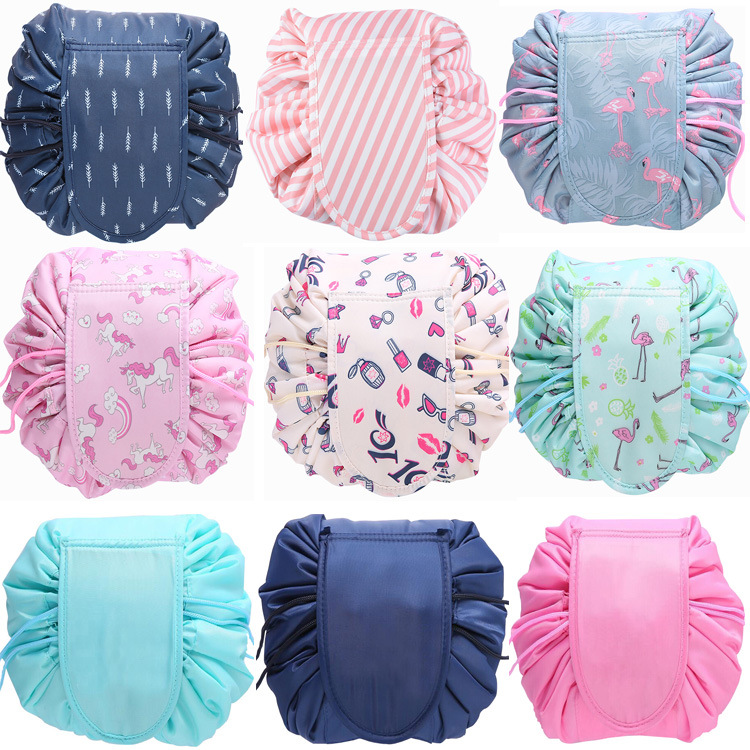 NEW Organizer Large-capacity Drawstring Cosmetic Bag Travel Makeup Bag Storage Bag Beam Magic Pouch Toiletry Kit Box Wash Bag