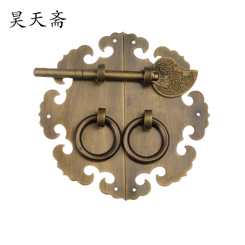 [Haotian vegetarian] special Chinese antique Ming and Qing furniture, copper bronze copper handle locks accessories HTB-167[Haotian vegetarian] special Chinese antique Ming and Qing furniture, copper bronze copper handle locks accessories HTB-167