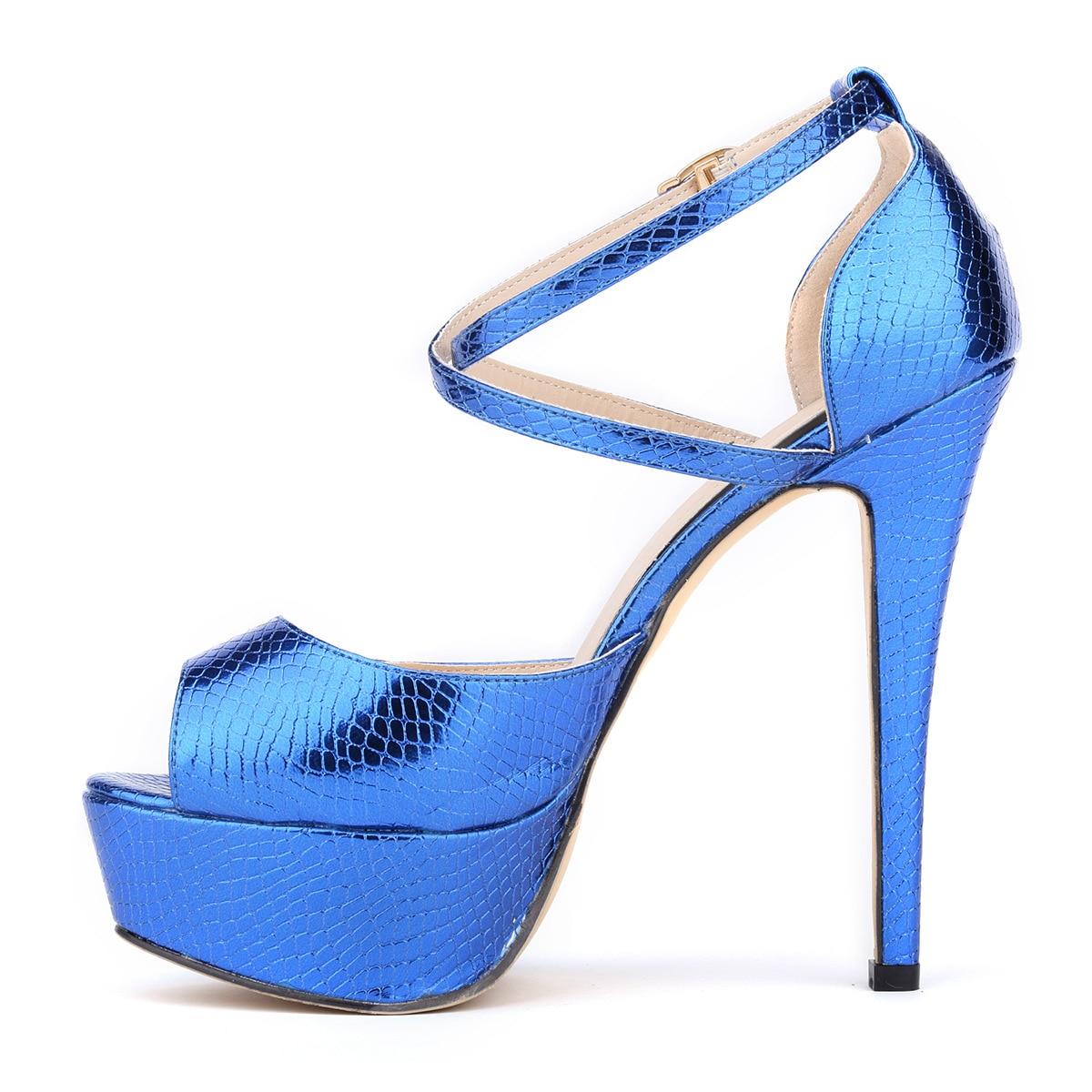 Or De 8xey gold Talon Boucle 817 Black Plate Chaussures forme Sandales Mince silver Dame Toe blue red Sexy Loslandifen Peep Femmes Crocodile Motif Mode Partie qTHHw7