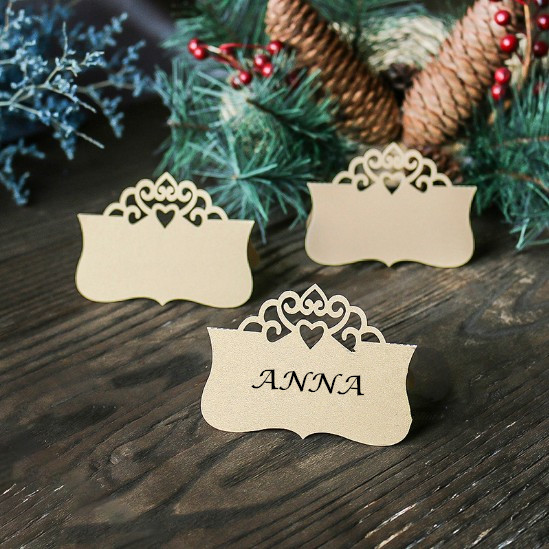 Place Card Holders for Wedding & Event Escort Card Display Cards Guests Seating Table Finder Cards 50pcs/lot