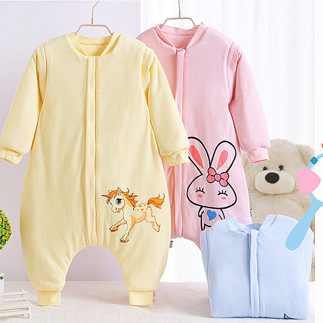 2017 Kids Baby Sleeping Bag Rabbit Animal pattern Newborn Baby Jumpsuit Warm Winter Soft Cotton Girl Kids Children Sleeping Bag