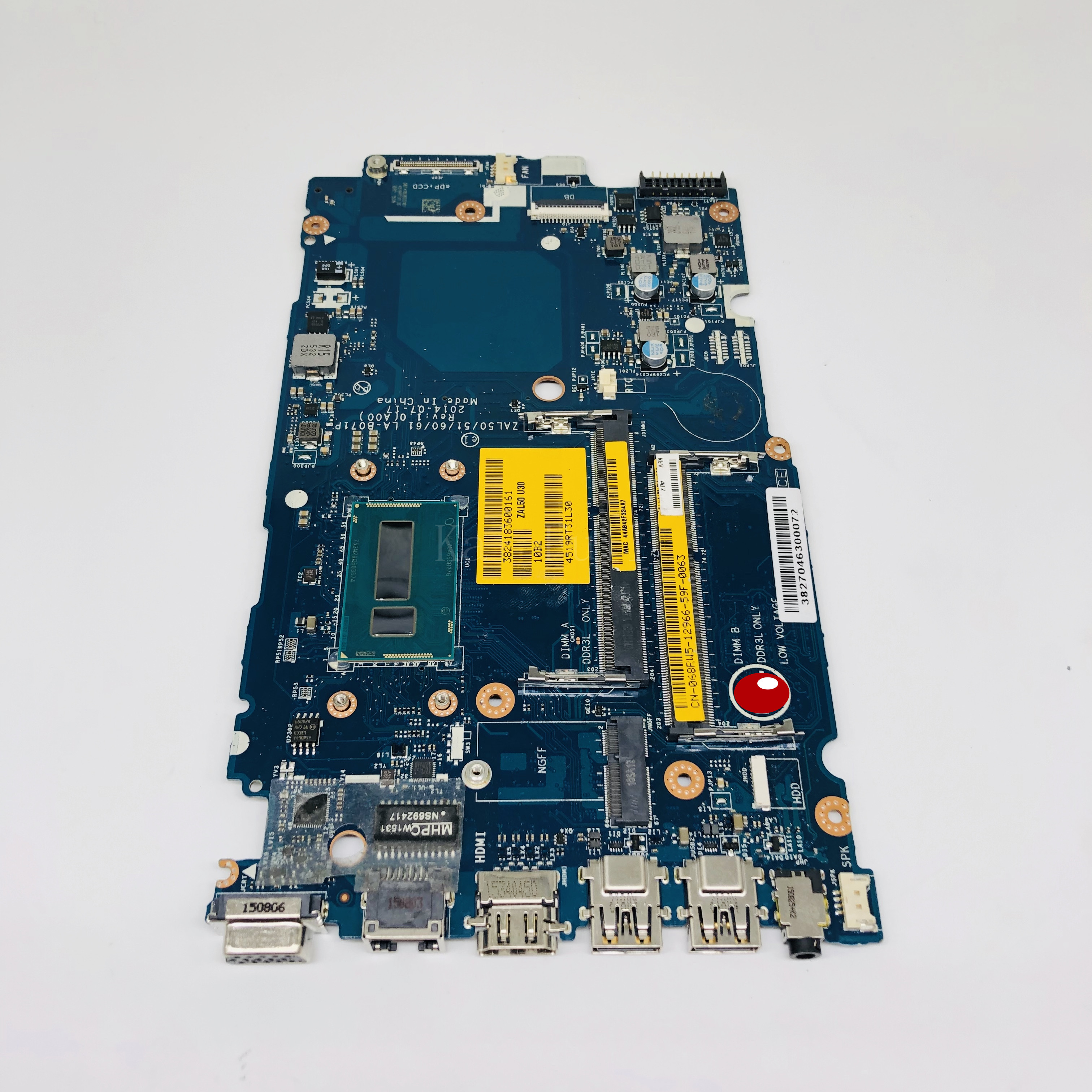 For dell Latitude 3450 L3450 Laptop motherboard <font><b>SR27G</b></font> I3-5005U CN-068RW5 68RW5 068RW5 ZAL50/51/60/61 LA-B071P mainboard image