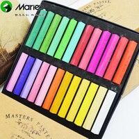 Hotsale 24Pcs Set Assorted Colors Soft Chalk Pastels Set For Art Drawing Scrapbookin Bar Hair Coloring