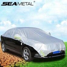 車カバー防水suvオート太陽防水シェード反射ストリップ屋外雨保護ユニバーサルハーフカバー車のアクセサリー