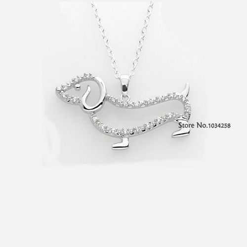 New Arrival! CZ Dachshund Necklace
