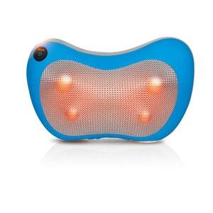 Image 4 - Boyun masajı omuz arka bacak vücut masaj yastığı elektrikli Shiatsu Spa ev/araba gevşeme yastık ile LED ışık ısı masajı