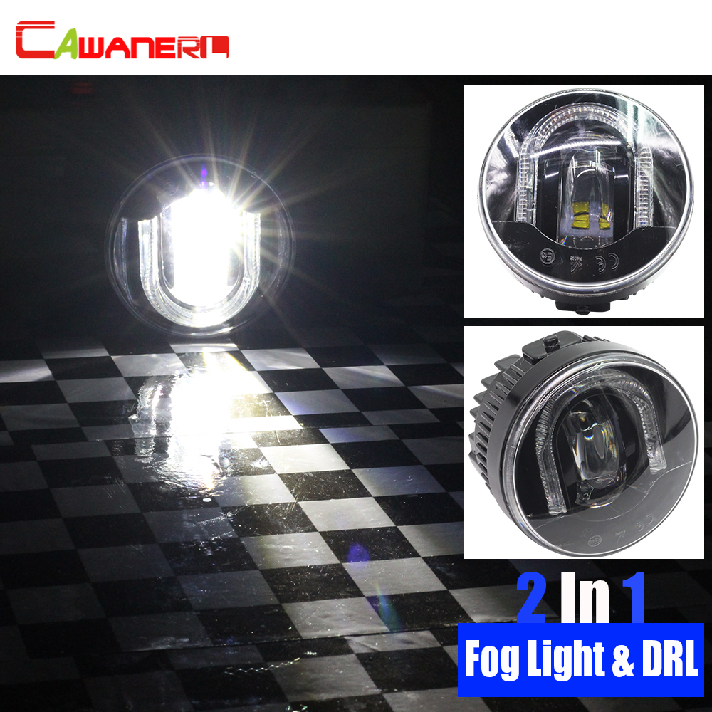 цена на Cawanerl For Infiniti QX70 QX50 Q60 EX35 EX37 G25 G37 FX37 FX45 FX50 M37 M56 Car Styling LED Fog Light DRL Daytime Running Lamp