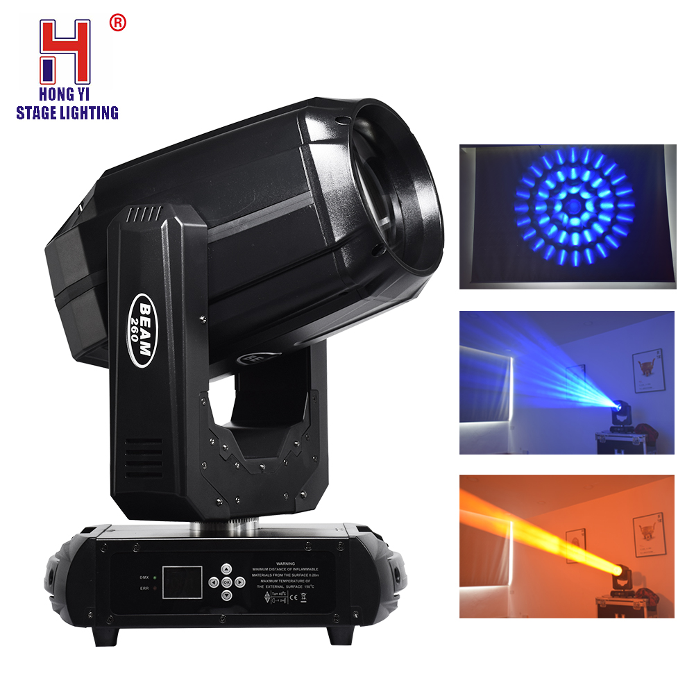 Moving head 260W beam light DMX512 controller gobo double prism professional stage lighting dj disco party lighting equipment