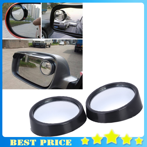 1pair Mini Rearview Car Mirror Wide Angle Round Blind Spot Side Rear View Mirror Rain Shade Auto