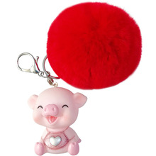 Cartoon Pig Keychain for Lovers Gift Trinket Lovely Key Ring Holder Women Kids Present Chaveiro Novelty Doll Key chains цена и фото