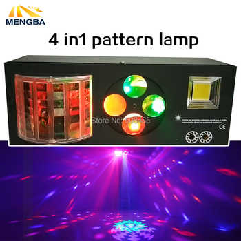 2018 Newest LED 4 in 1 Laser flash Gobo Strobe butterfly patterns light DMX512 KTV club Disco dj Multi-functional stage lighting - DISCOUNT ITEM  53% OFF All Category