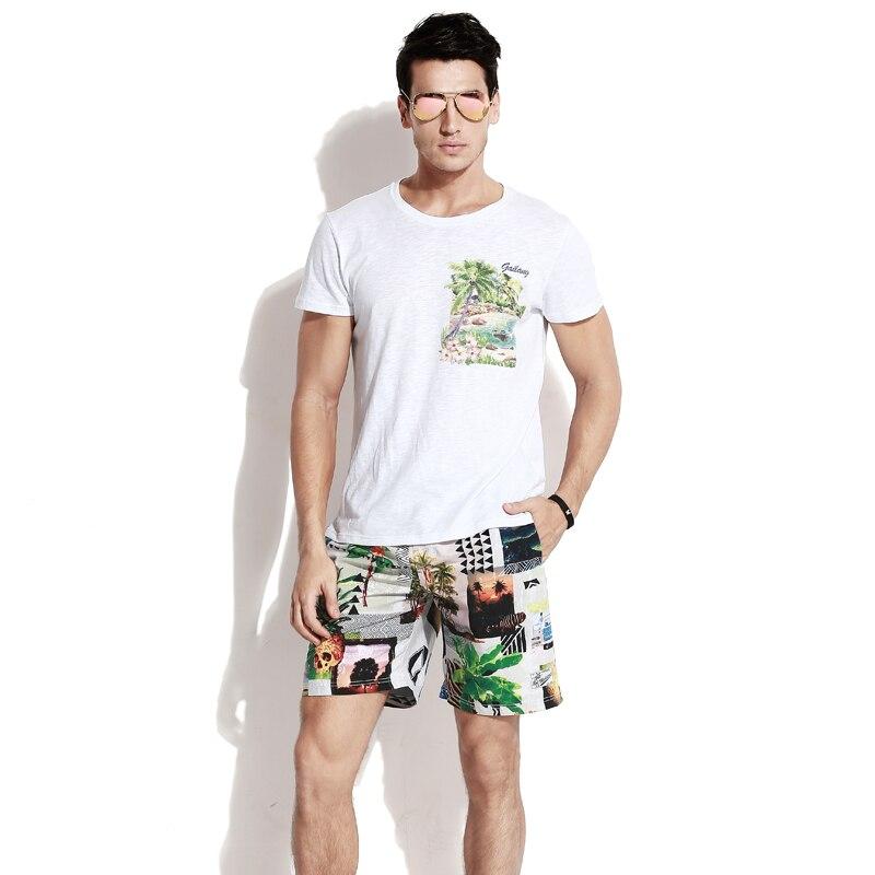 Men's Summer bathing suit   board     shorts   hawiian bermudas quick dry surfing beach   shorts   camouflage briefs swimwear drawstring