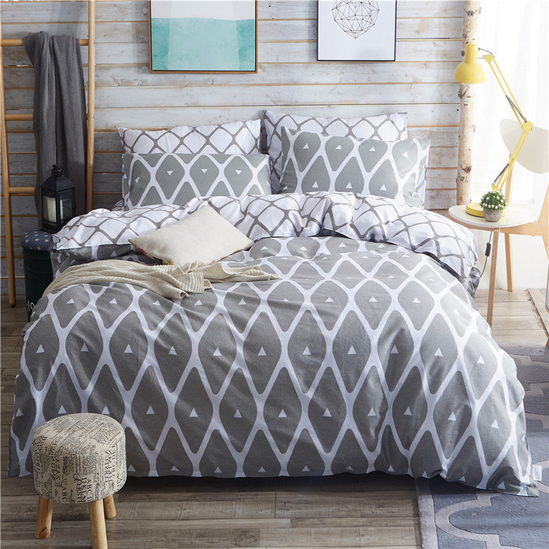 100 cotton duvet cover bed set geometric bedding set queen pillowcase america russia rufamily size