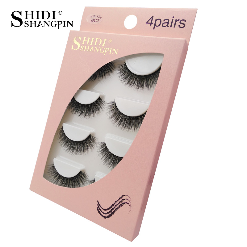 HTB1dcAyaPDuK1Rjy1zjq6zraFXaO Natrual long 3D Mink False Eyelashes wholesale 4 pairs Fluffy Make up Full Strip Lashes 3D Mink Lashes faux cils Soft Maquiagem