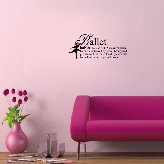 Ballet Definition Girls Dance Wall Decals Vinyl Stickers Home Decor Bedroom  Wallpaper Wall Sticker Girl Quote