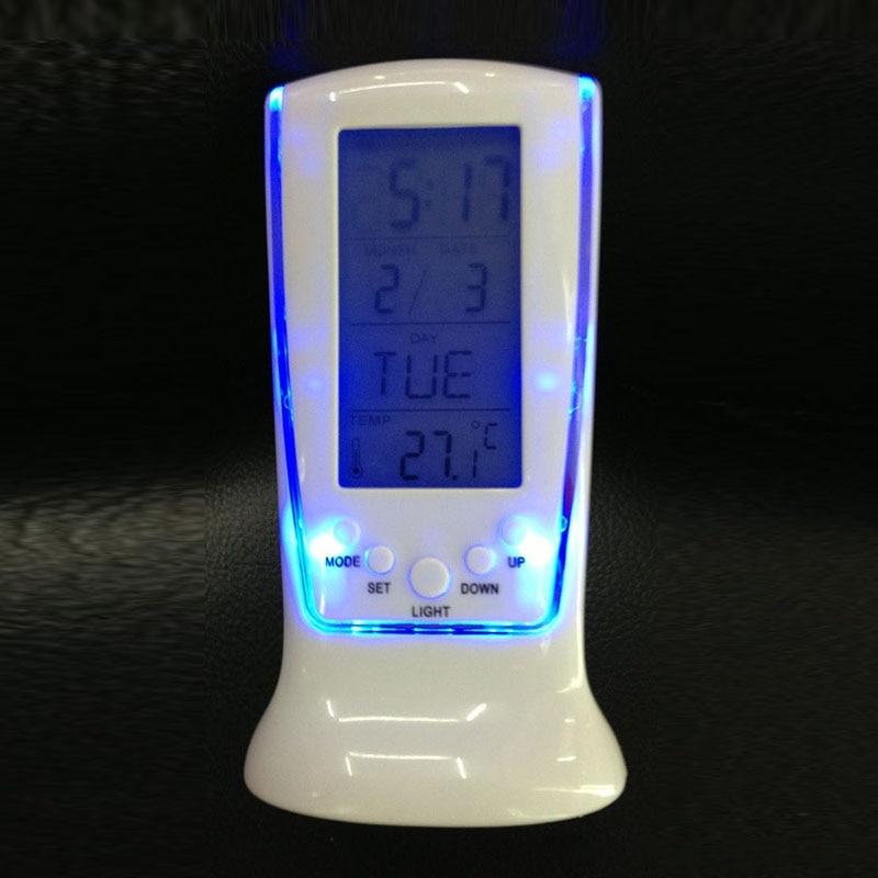 Digital LCD Table Auto Car Dashboard Desk Date Time Calendar Small Clock Sale