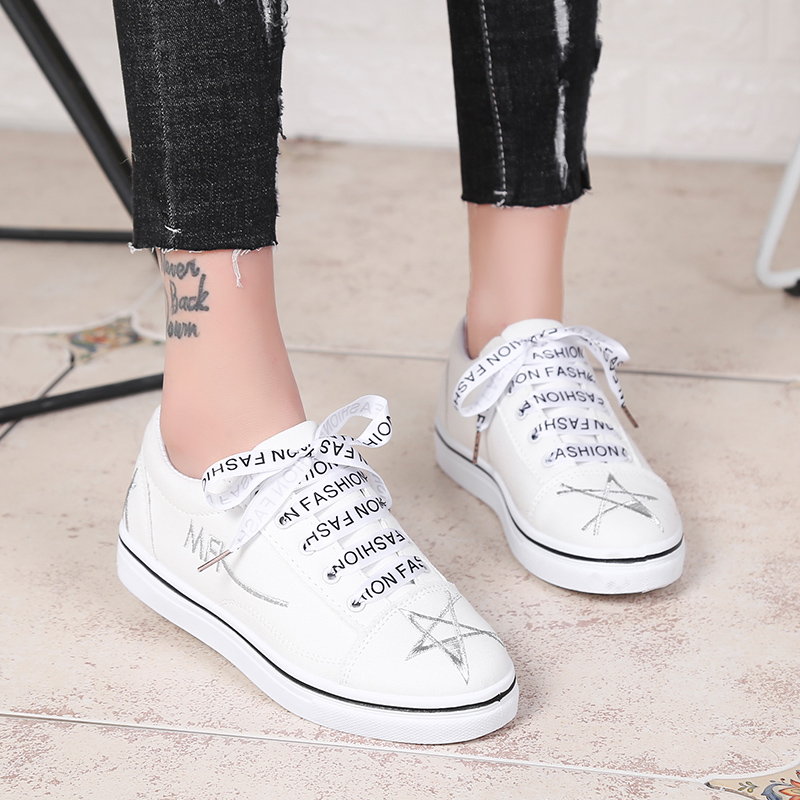 ZENVBNV Fashion all Women Vulcanized Shoes Sneakers Ladies Lace-up Casual Shoes Breathable Walking Canvas Shoes Flat star shoes e lov women casual walking shoes graffiti aries horoscope canvas shoe low top flat oxford shoes for couples lovers