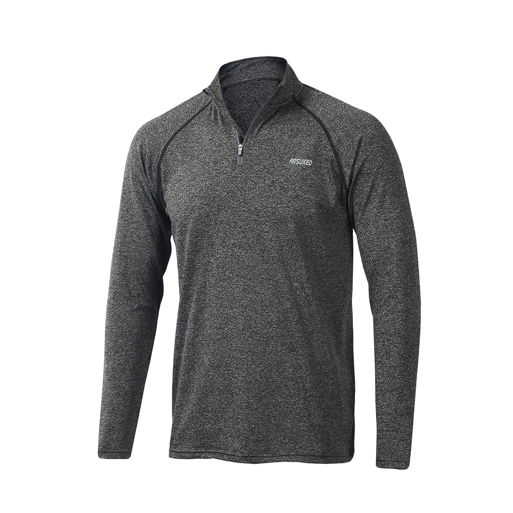 ARSUXEO 2018 New Men 39 s Tops Long Sleeve Running Shirts Outdoor Trainning Sweat T Shirt GYM Sportswear Soccer Jersey Sports Suit in Running T Shirts from Sports amp Entertainment