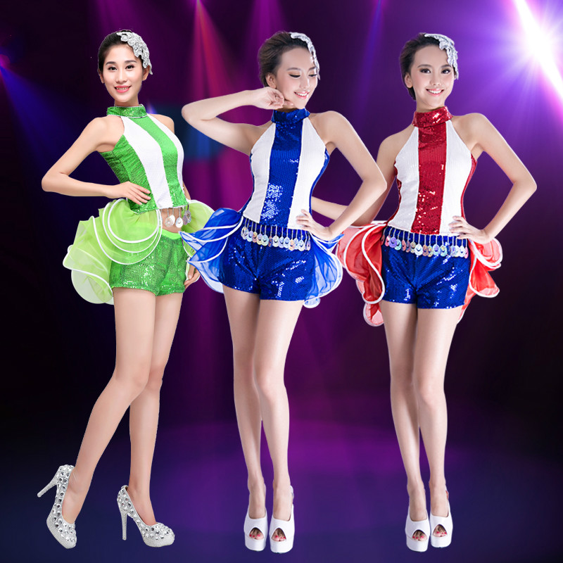 Fashion Modern Dance Costume for Women Jazz Dance Costume Adult Sequin Hip Hop Dance Cloting for Stage DJ Dance Clothes 89
