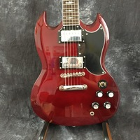 High quality angus young sg guitars in aged cherry china oem hardware chrome custom body electric guitar available